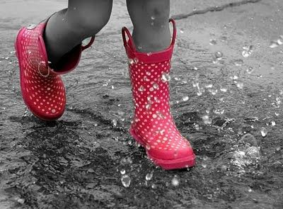 Adorable Rain Boots that you can splash in puddles in!