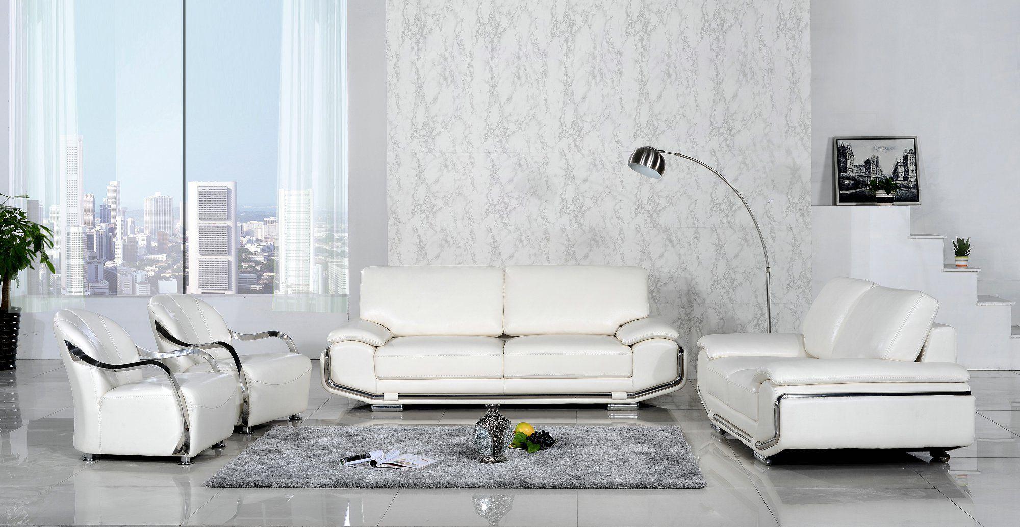 White Sofa Set In 2020 White Leather Sofas Best Sofa White Leather Sofa Set