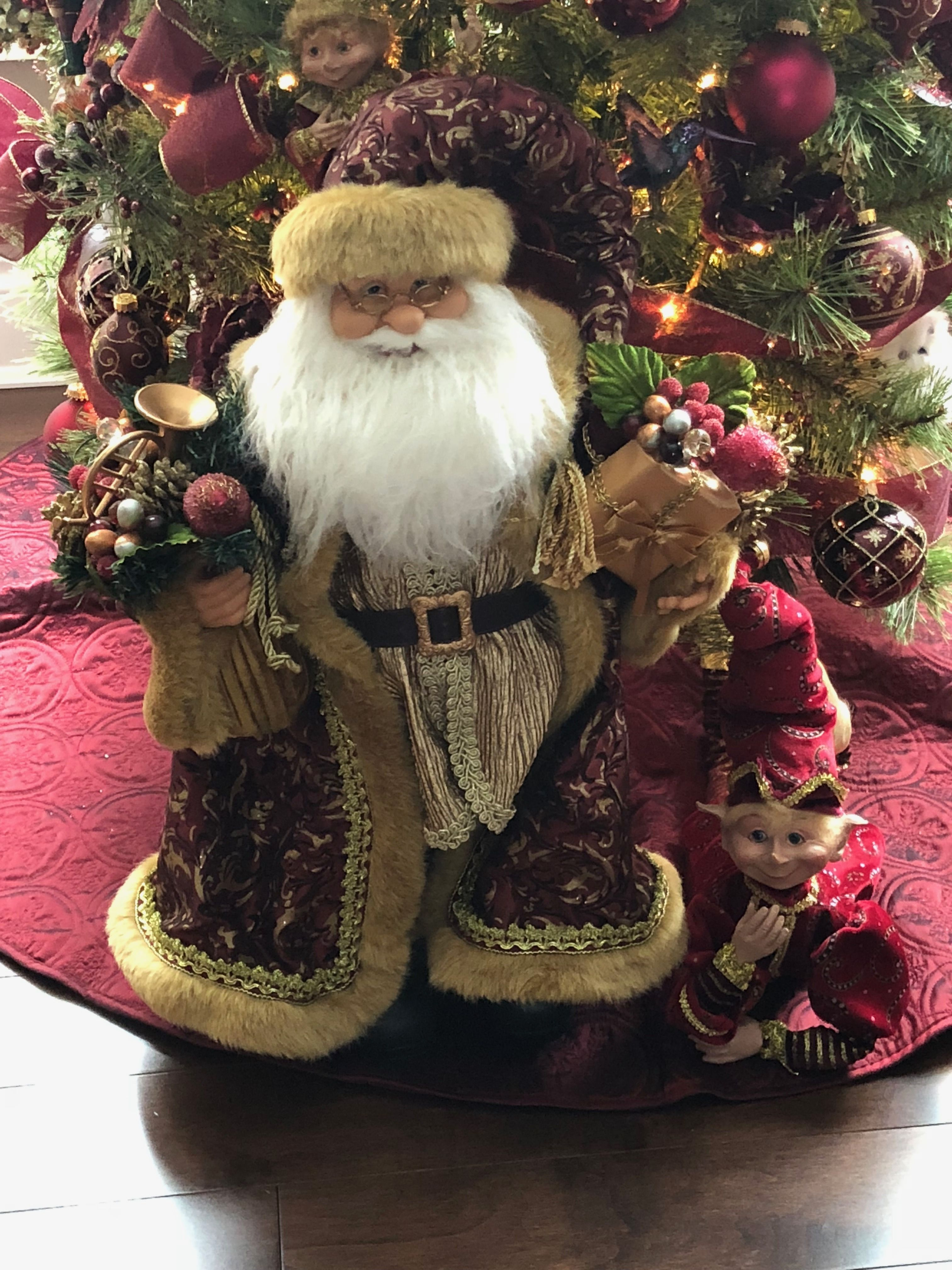 overstock santa inch kurt free santas woodland shipping decor garden home product decorative today adler