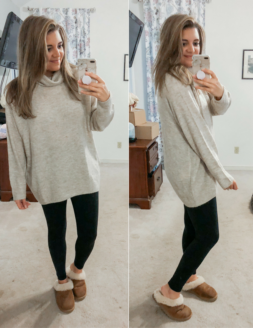 Best Long Sweaters for Leggings Outfits