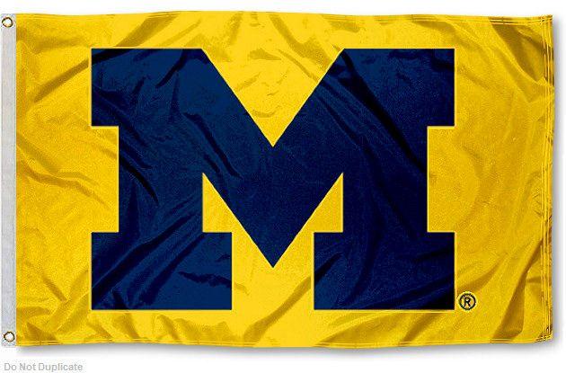Michigan Wolverines Yellow 3x5 Flag