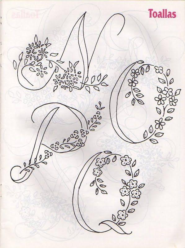 Moldes Para Artesanato em Tecido: Alfabetos para Bordar   bordados ...