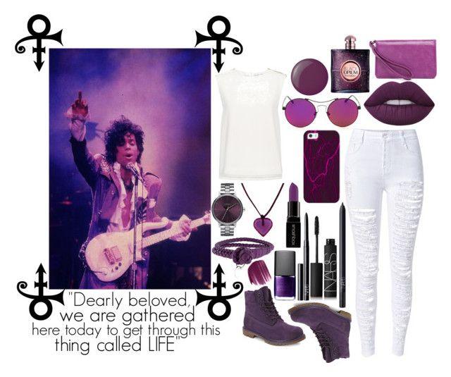 """""""Purple Rain"""" by booooooom ❤ liked on Polyvore featuring Lime Crime, Finders Keepers, Timberland, NARS Cosmetics, Bottega Veneta, Nixon, Baccarat, Casetify, Smashbox and Yves Saint Laurent"""