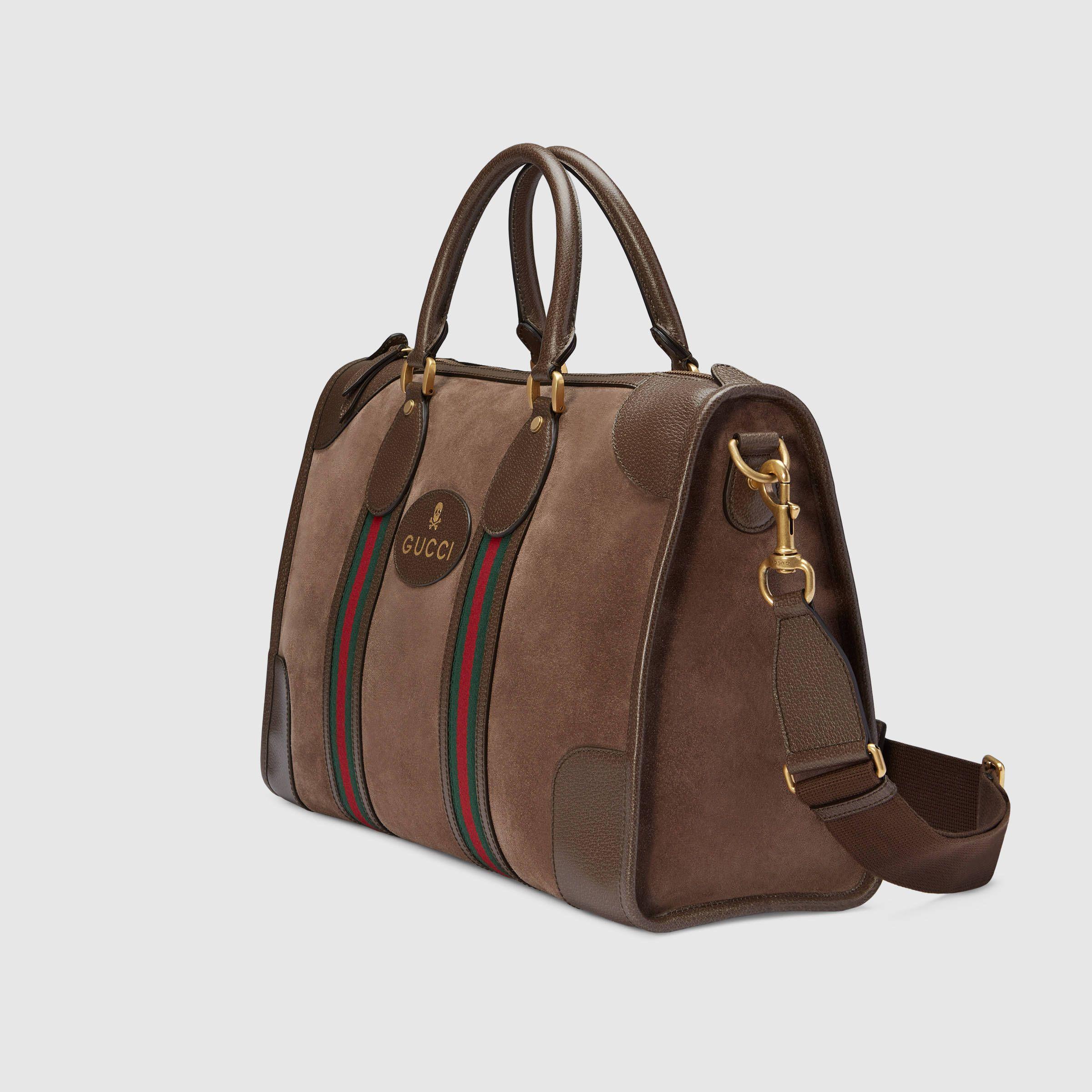 Gucci Monogram Mens Womens Travel Duffle Carryall Weekender Shoulder Tote Bag jZlY6fbg