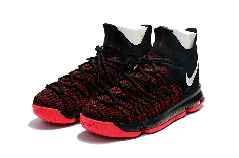 buy online f0826 498c9 KD 9 Official IX Elite 2018 NBA Playoffs Black University Red