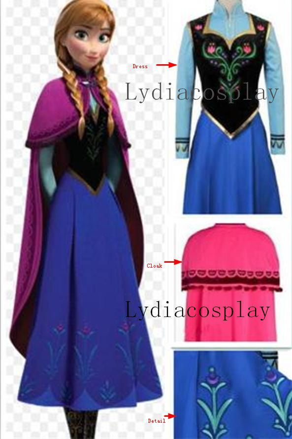 Handmade++Anna+Costume+Anna+Dress+Princess+Anna+by+LydiaCosplay+$135.00 & Handmade - Anna Costume Anna Dress Princess Anna Dress Frozen ...