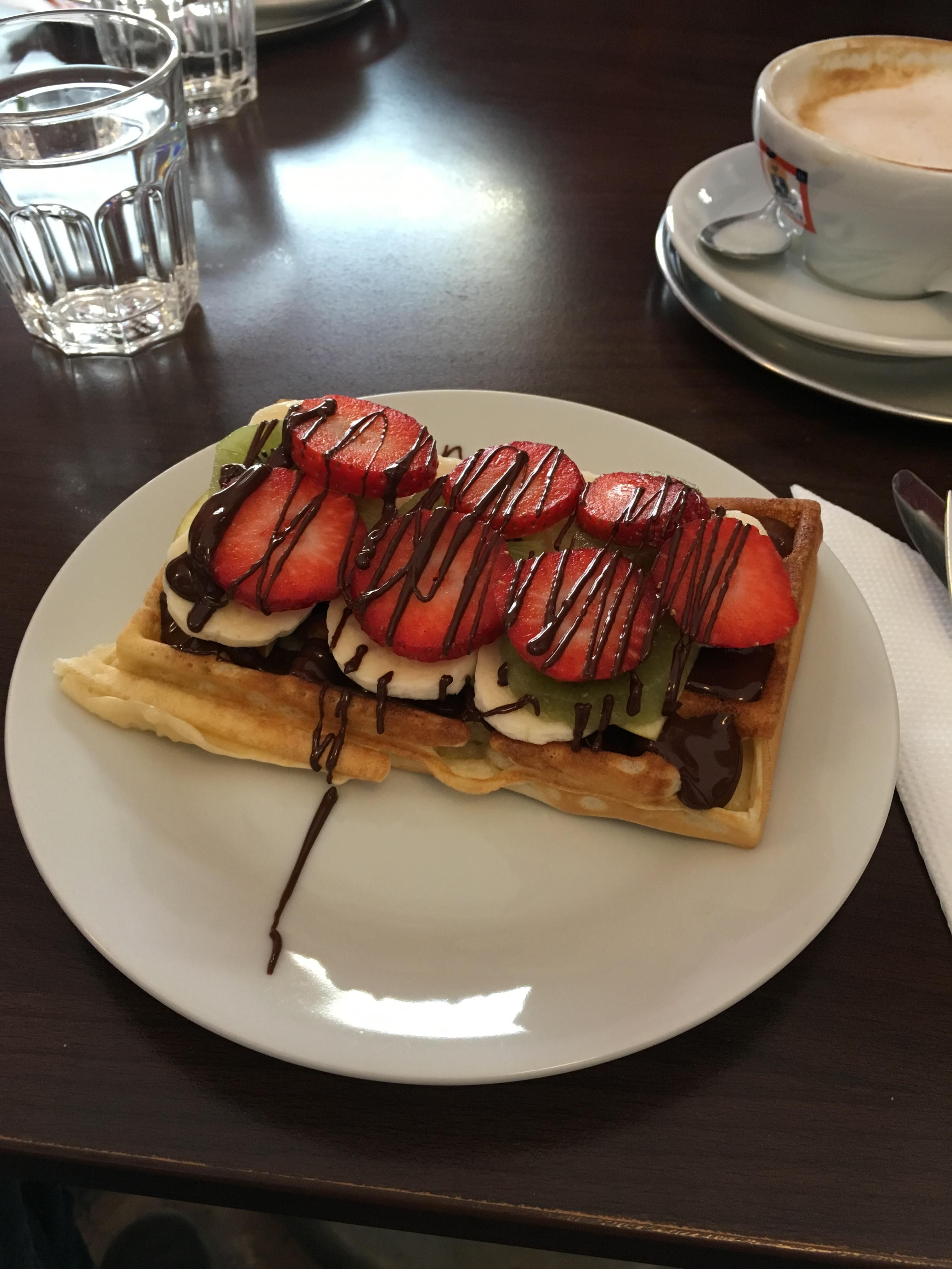 Belgian Chocolate Waffle from Chococafe in Prague | Chocolate ...