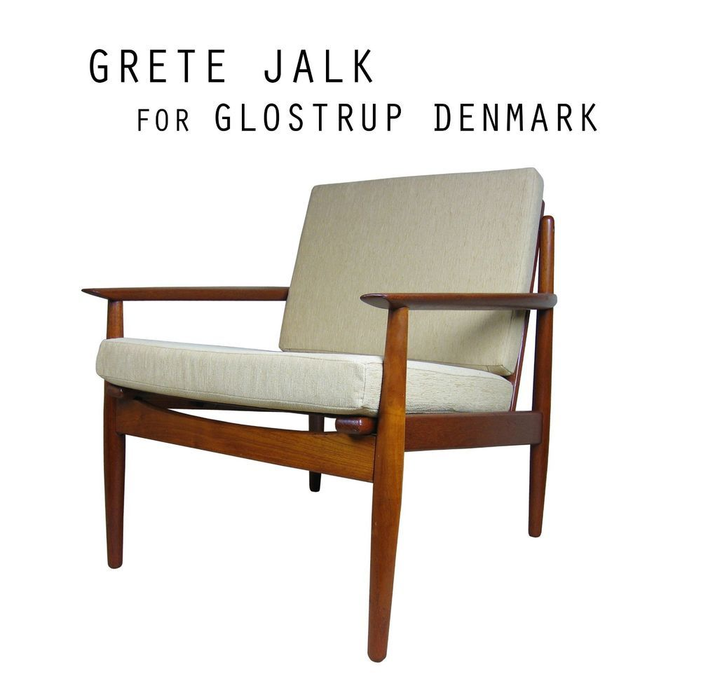 Danish Mid Century Modern Teak Easy Lounge Chair By Grete Greta  # Easylounge Meuble Tv