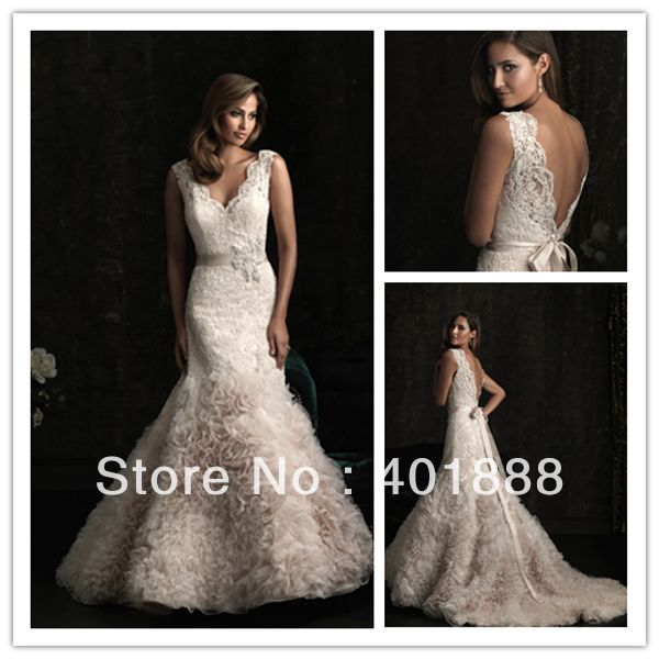 Find More Wedding Dresses Information about v neck backless with ribbon lace top organza bottom sexy wedding night dresses,High Quality backless sheath wedding dress,China dress sleeves Suppliers, Cheap backless from Lanrui Wedding Dress & Evening Dress Store on Aliexpress.com