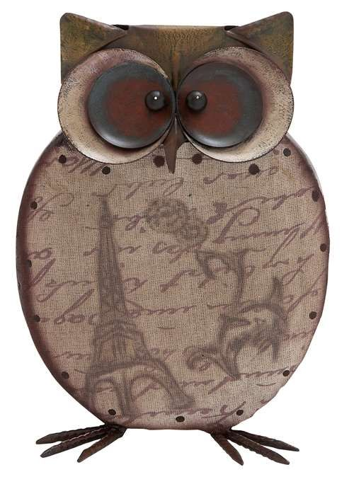 Wise Owl Figurine | This kooky Wise Owl Figurine will sit mysteriously on the shelf or table leaving you to wonder whats going in that cute little head of his. Most likely, he'll be complimenting your design sense for bringing him home!