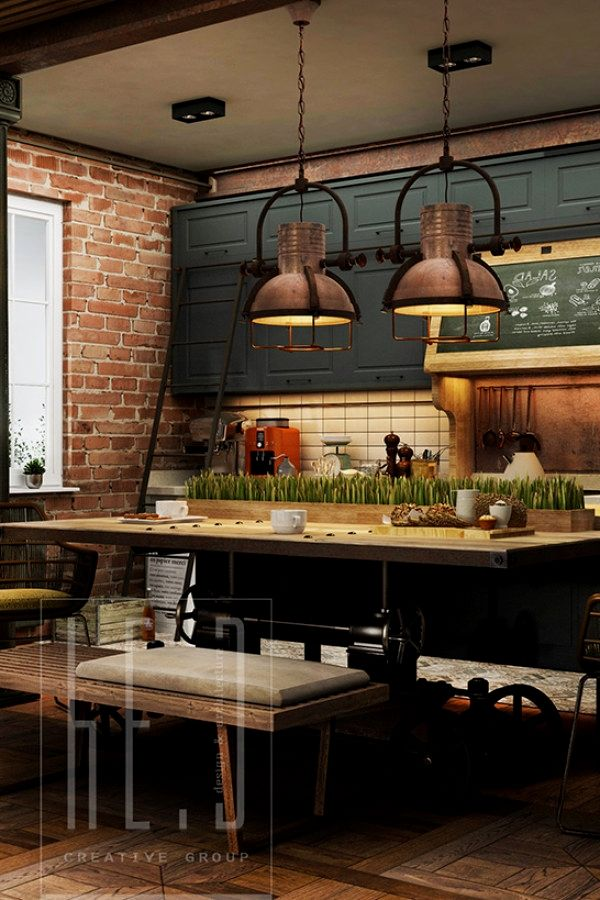 50 Easy Industrial Kitchen Decor Ideas For Your Urban Cooking Space Industrial Kitchen Industrial Kitchen Design Industrial Decor Kitchen Kitchen Design Decor
