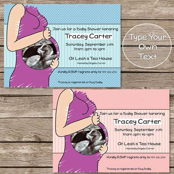 Mother to be Ultrasound EDITABLE PRINTABLE by LilFacesPrintables, $5.95