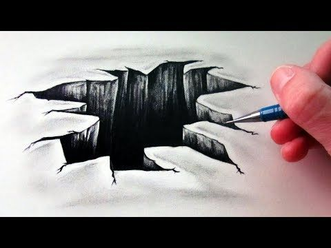 How To Draw A 3d Hole Optical Illusion Youtube Optical