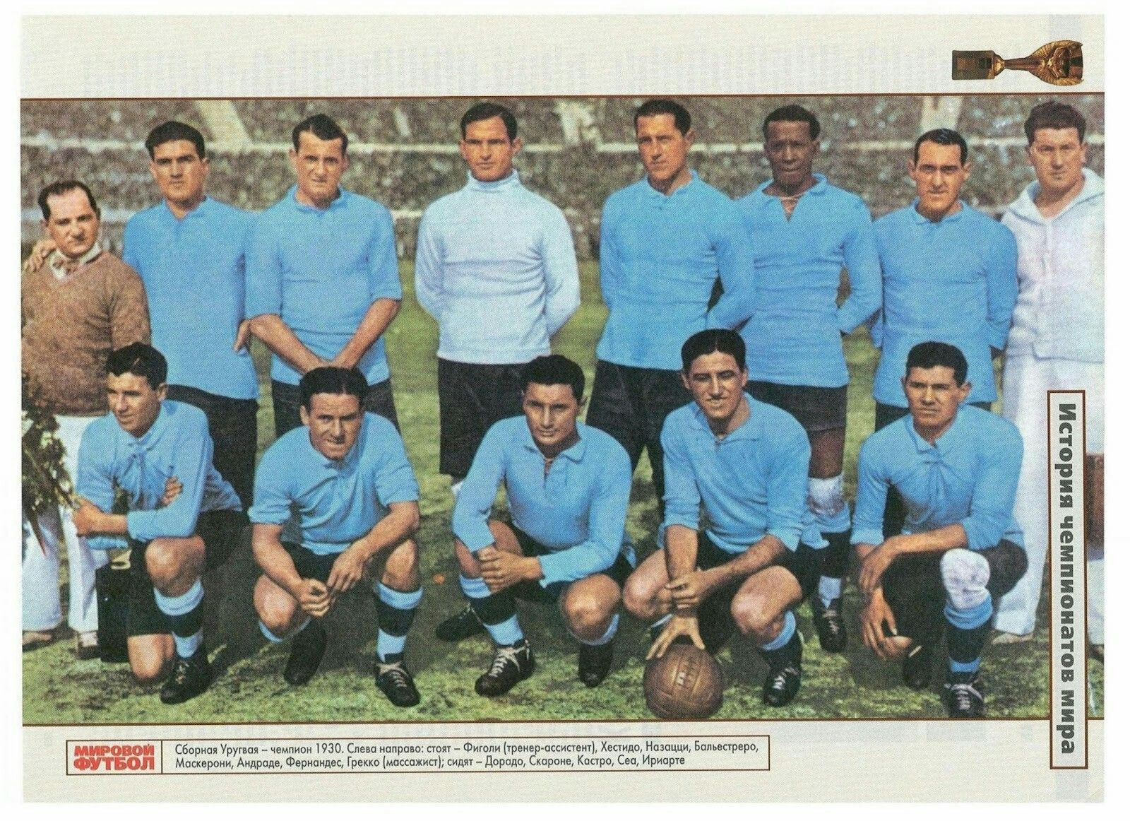 1a116935f Uruguay team group at the 1930 World Cup Finals.