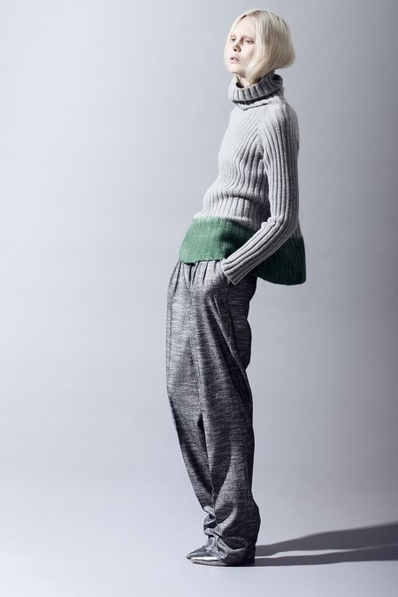 Pinning for the colour inspiration even though the model looks very distressed with the sweater gabriele colangelo pf13