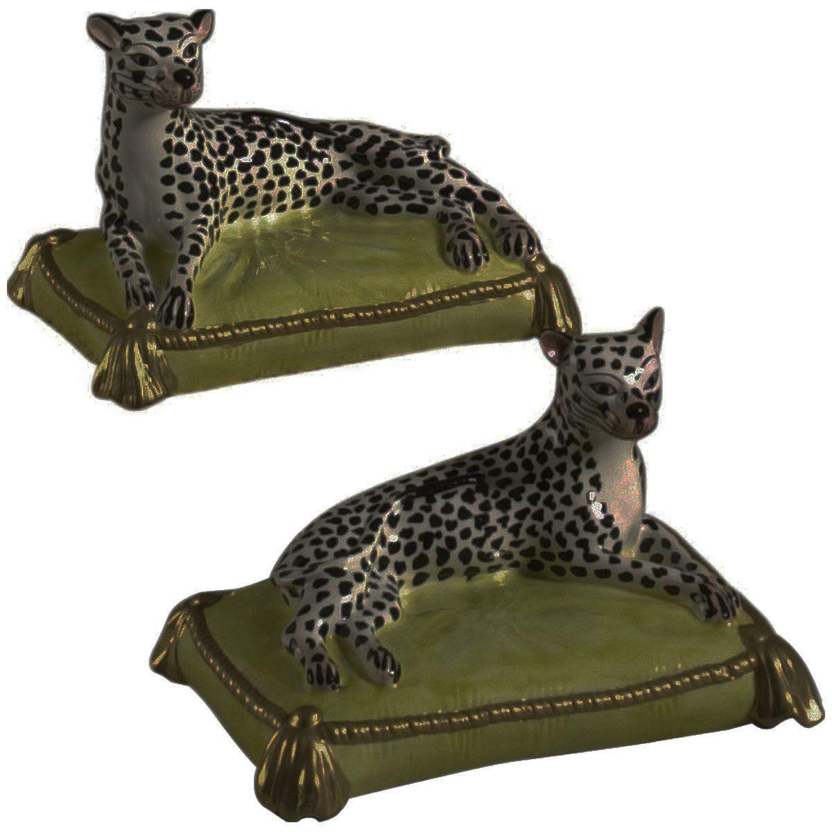 Chelsea House 43-0022 Leopards Figurine - Pair