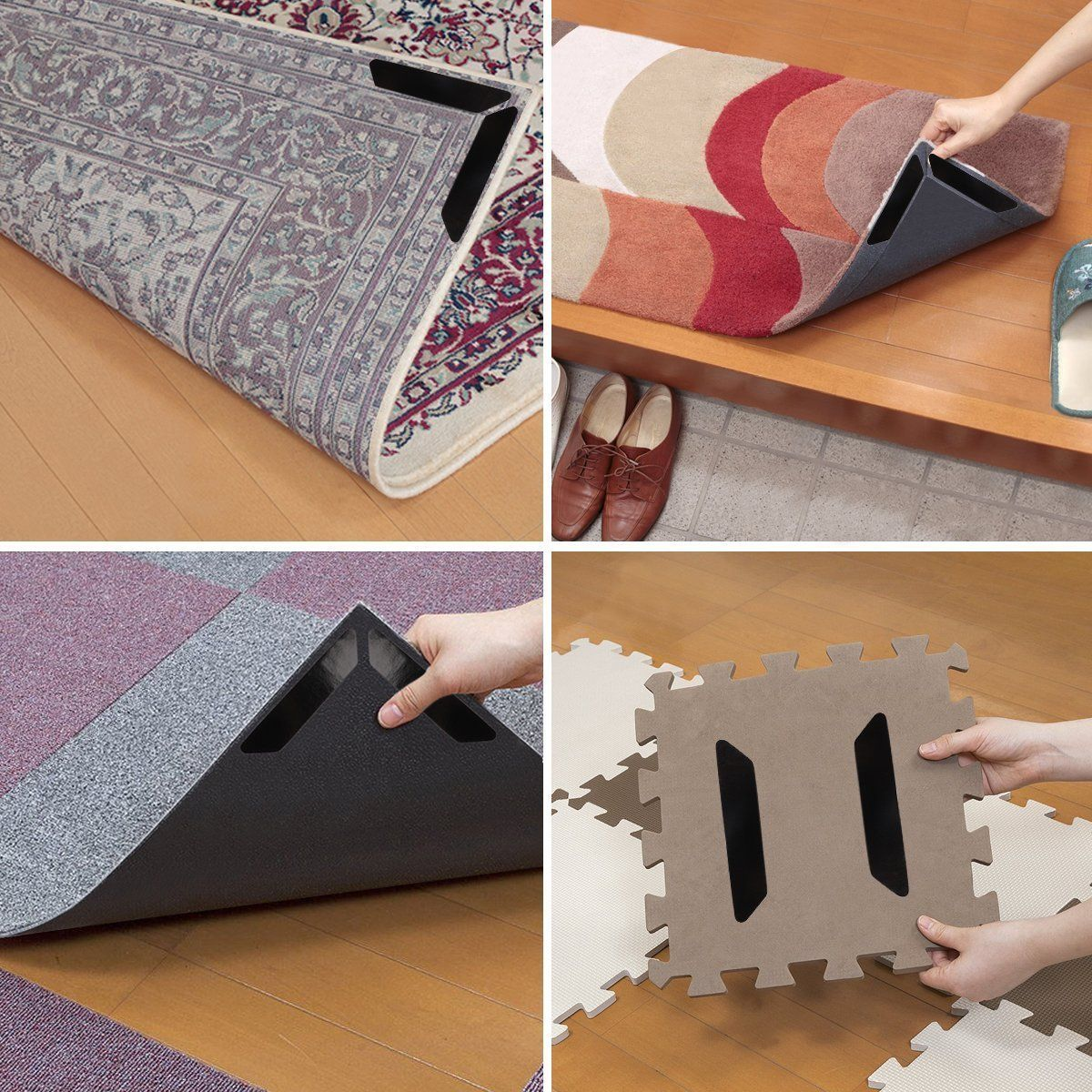 Rug Grippers Veanic 16 Pcs Anti Curling Rug Gripper Keeps Your Rug In Place And Makes Corners Flat Carpet Gripper Area Rug Gripper Fo In 2020 Carpet Area Rugs Hardwood