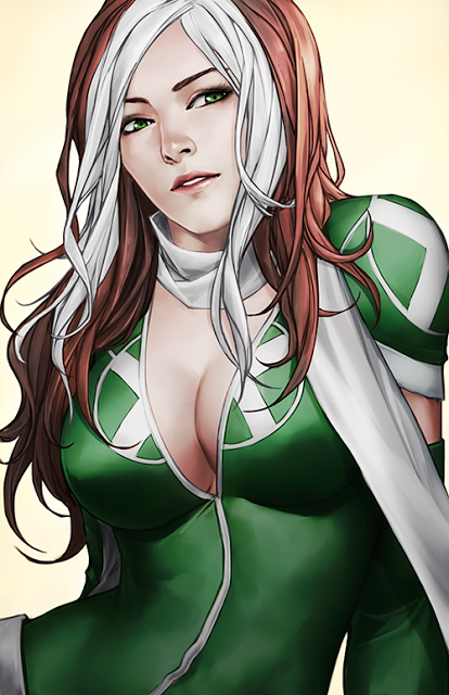 Rogue up close, in fine art, by Z-nth.