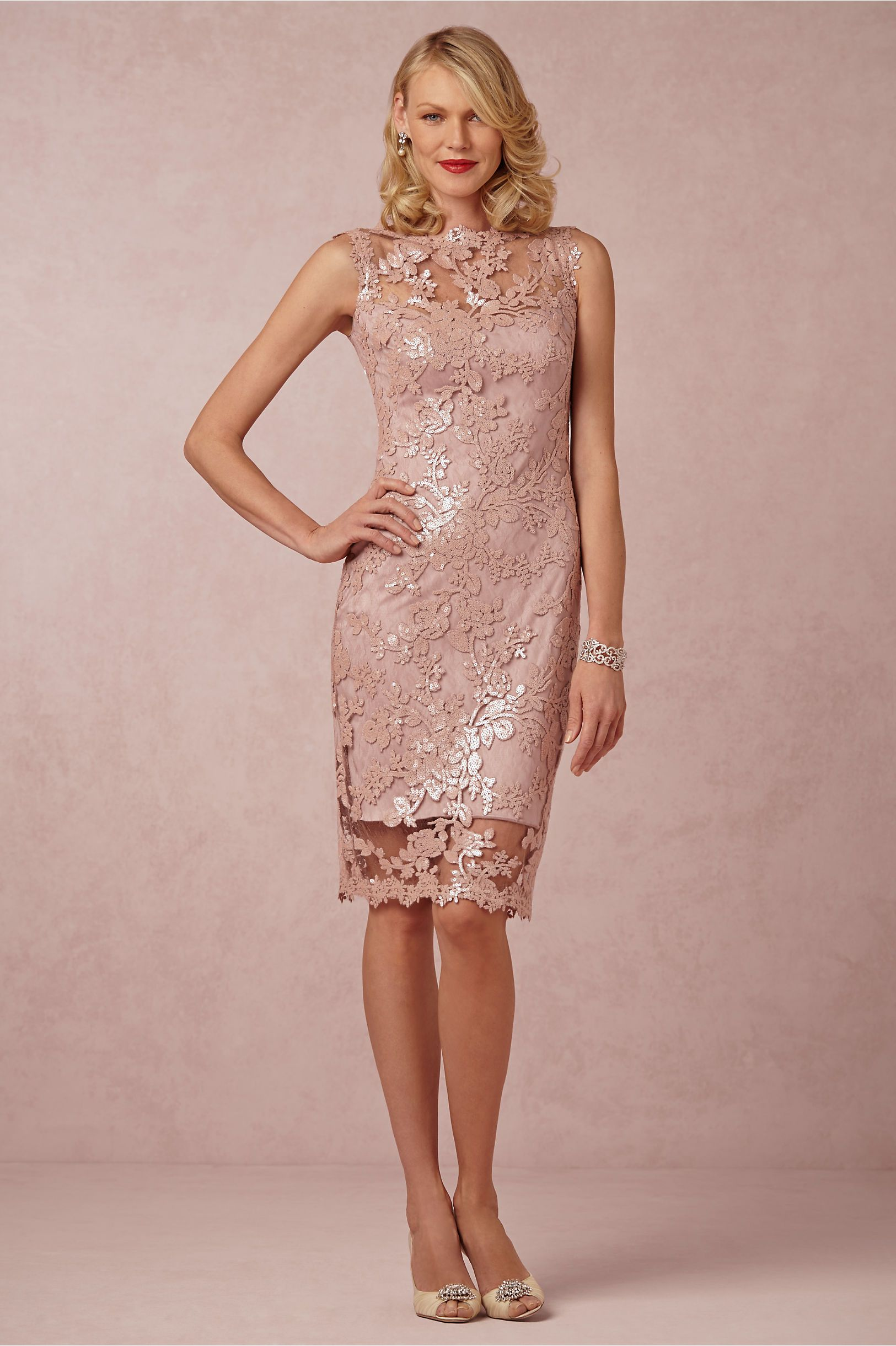 Vestido Rosa con detalles | vestidos sin mangas | Pinterest ...