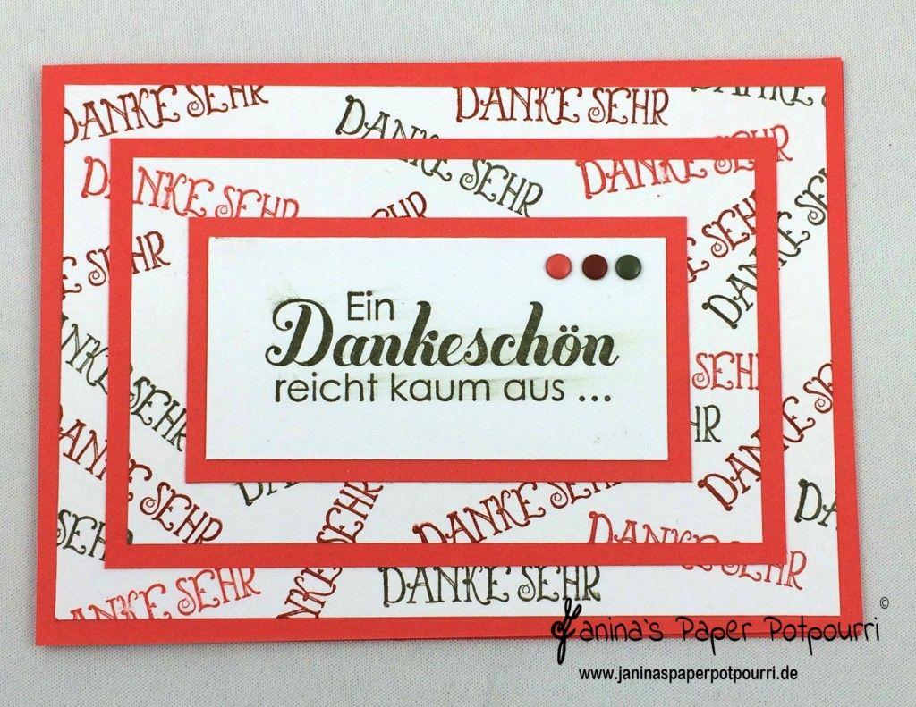jpp - 3 Layer Thank You Card / 3 Lagen Technik / Dankeskarte / Stampin' Up! Berlin / Tausend Dank www.janinaspaperpotpourri.de