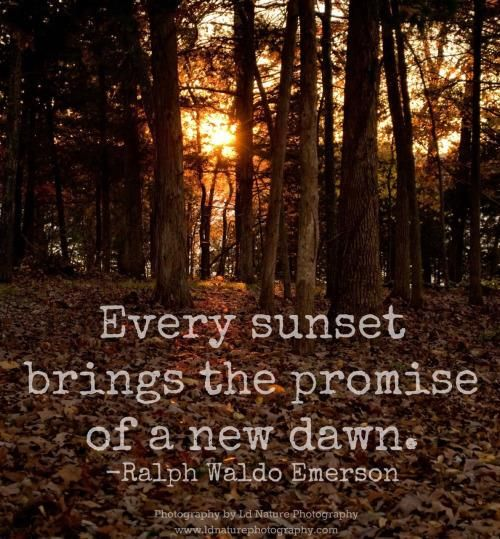 Every sunset brings the promise of a new dawn.