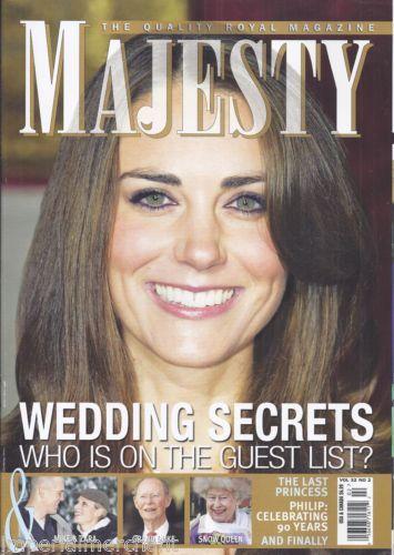 Kate Middleton in Majesty magazine