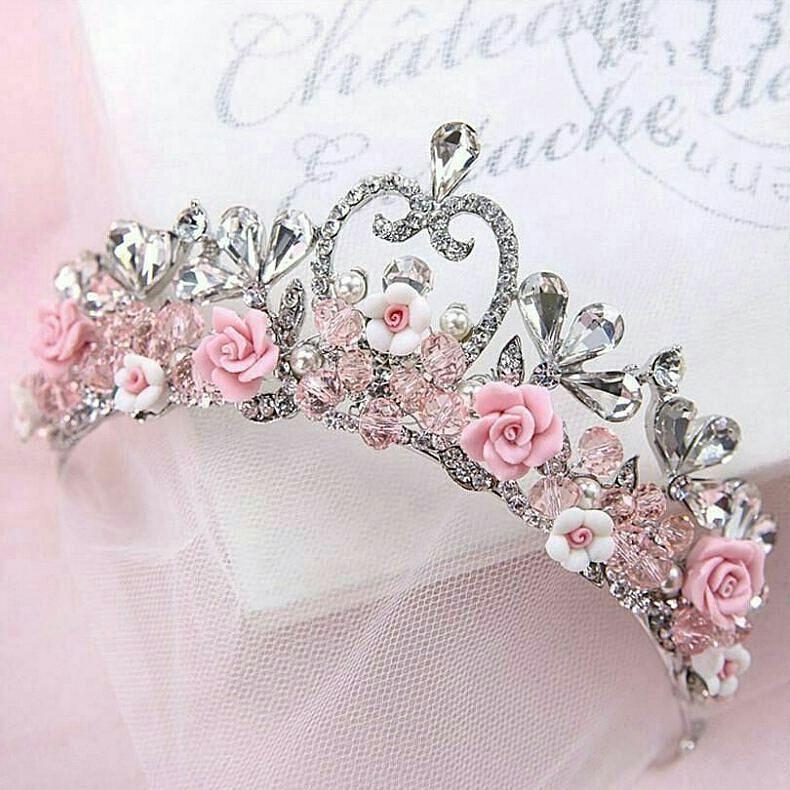 Crystal Rhinestone Tiara Hair Band Girl Bridal Princess Prom Crown Headband Gift