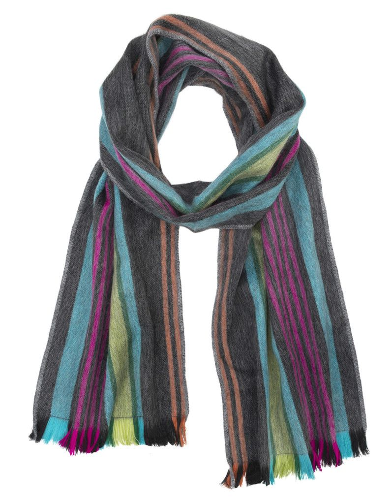 range of natural colours Fair Trade and hand-woven Bolivian Alpaca Scarf