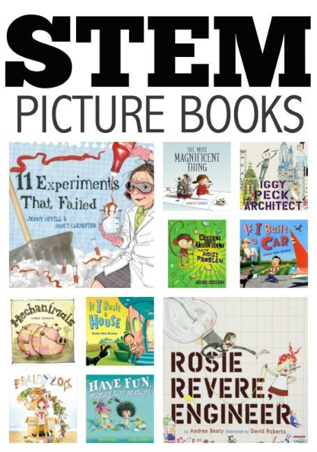 STEM picture book list for kids!