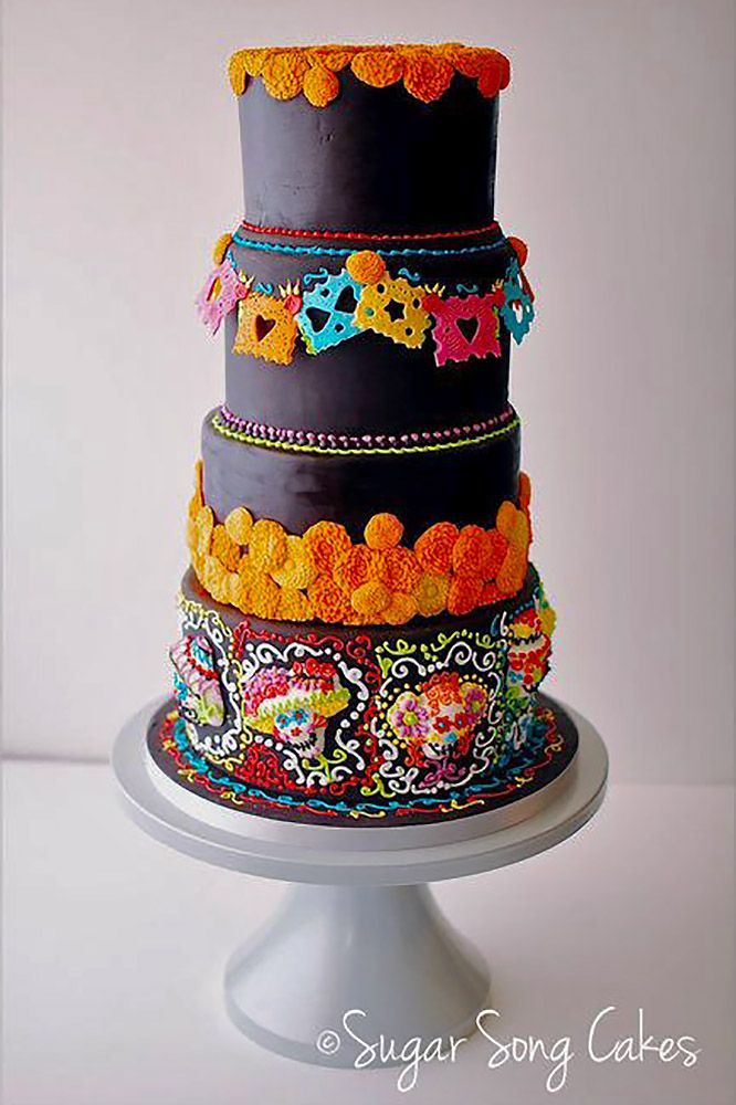 27 Exciting U0026 Colourful Mexican Wedding Cake Ideas