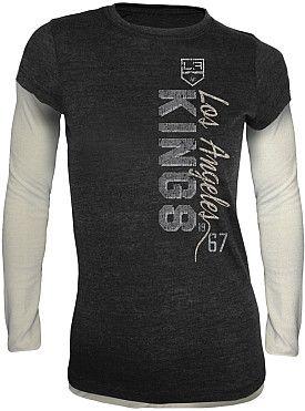 Old Time Hockey LA Kings Women s Romina Long Sleeve Fooler T-shirt - Shop. NHL.com 855bfa83e