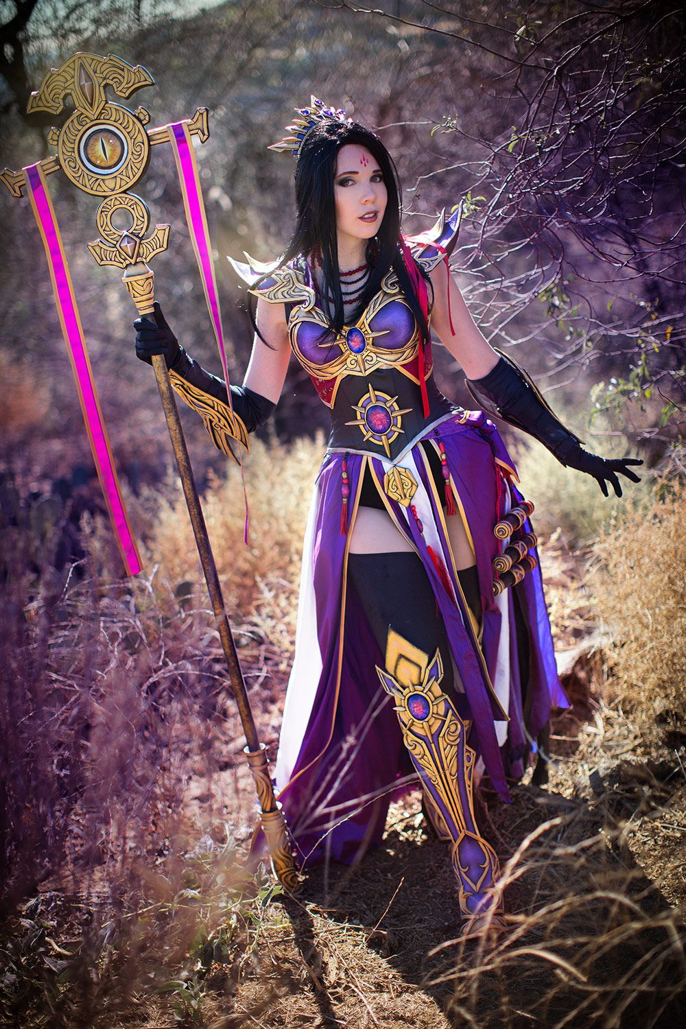 Diablo 3 Female Purple Wizard Cosplay Kamui Cosplay Costume ...