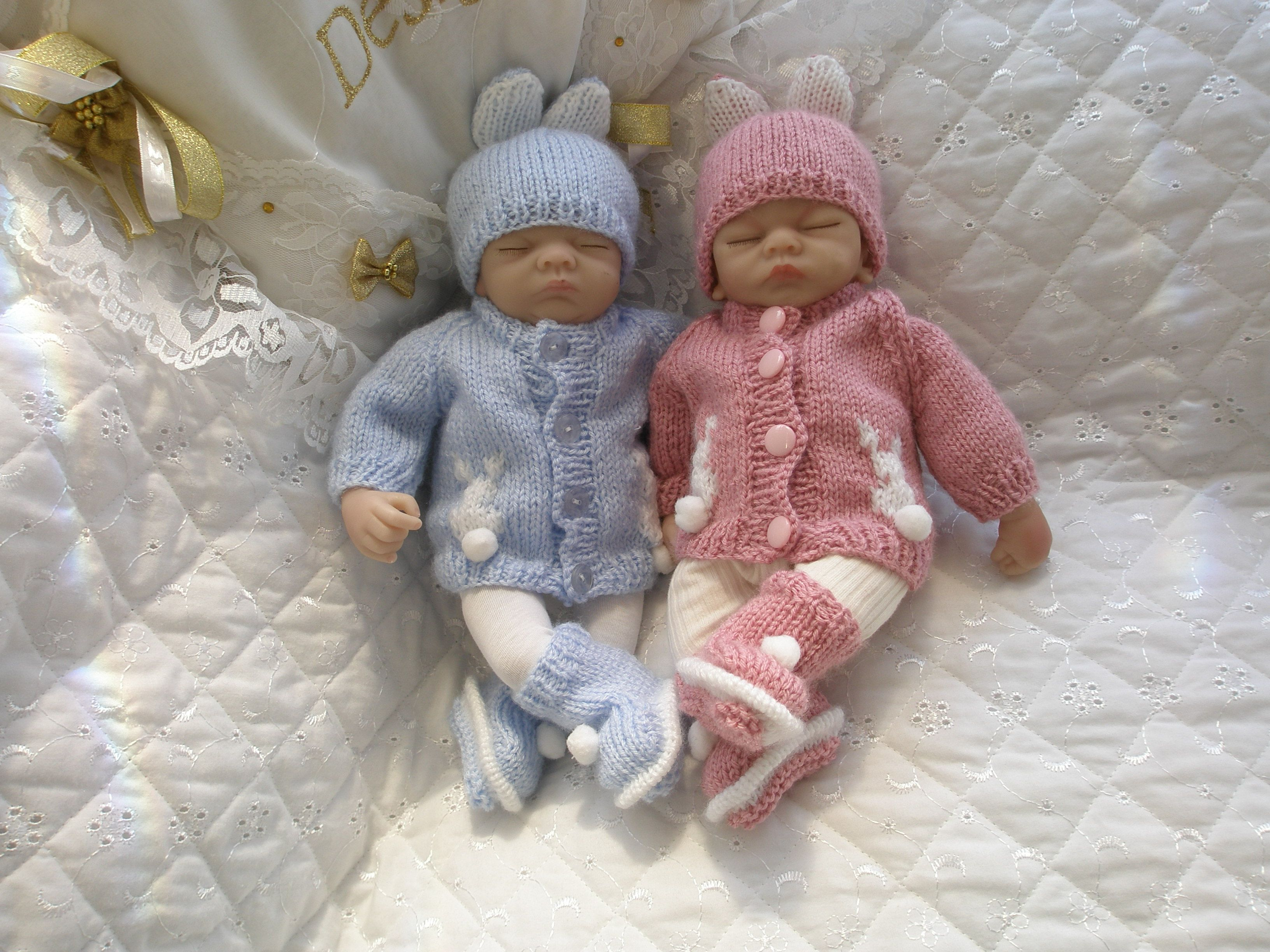 Knitting pattern with bunny motif suitable for premature baby 2 3 knitting pattern with bunny motif suitable for premature baby 2 3 lb or 10 bankloansurffo Choice Image