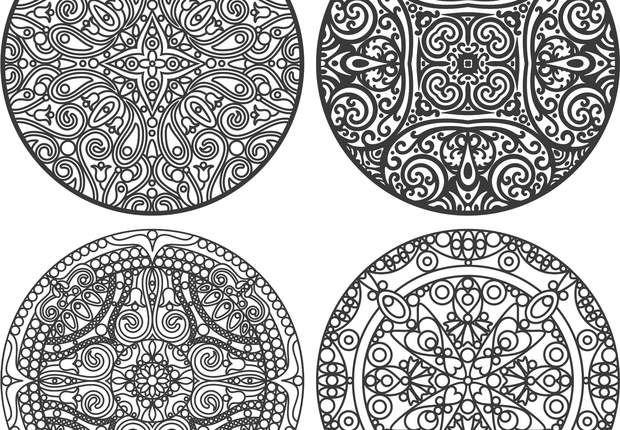 Coloriage anti stress et mandala gratuits pour adulte coloriage dessin mandala coloring - Dessin anti stress mandala ...