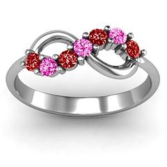 #Personalize this #Birthstone #Infinity #Ring #pretty #girls
