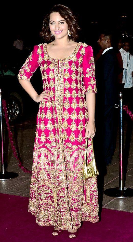 Desi wedding Dress | Grow Anarkali | Pinterest | Desi, Sonakshi ...