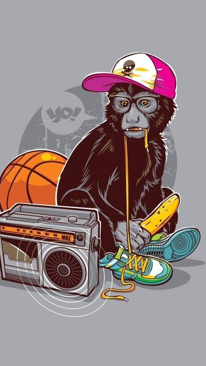 Download Hip Hop Wallpapers For Mobile Gallery Monkey Art Illustration Art