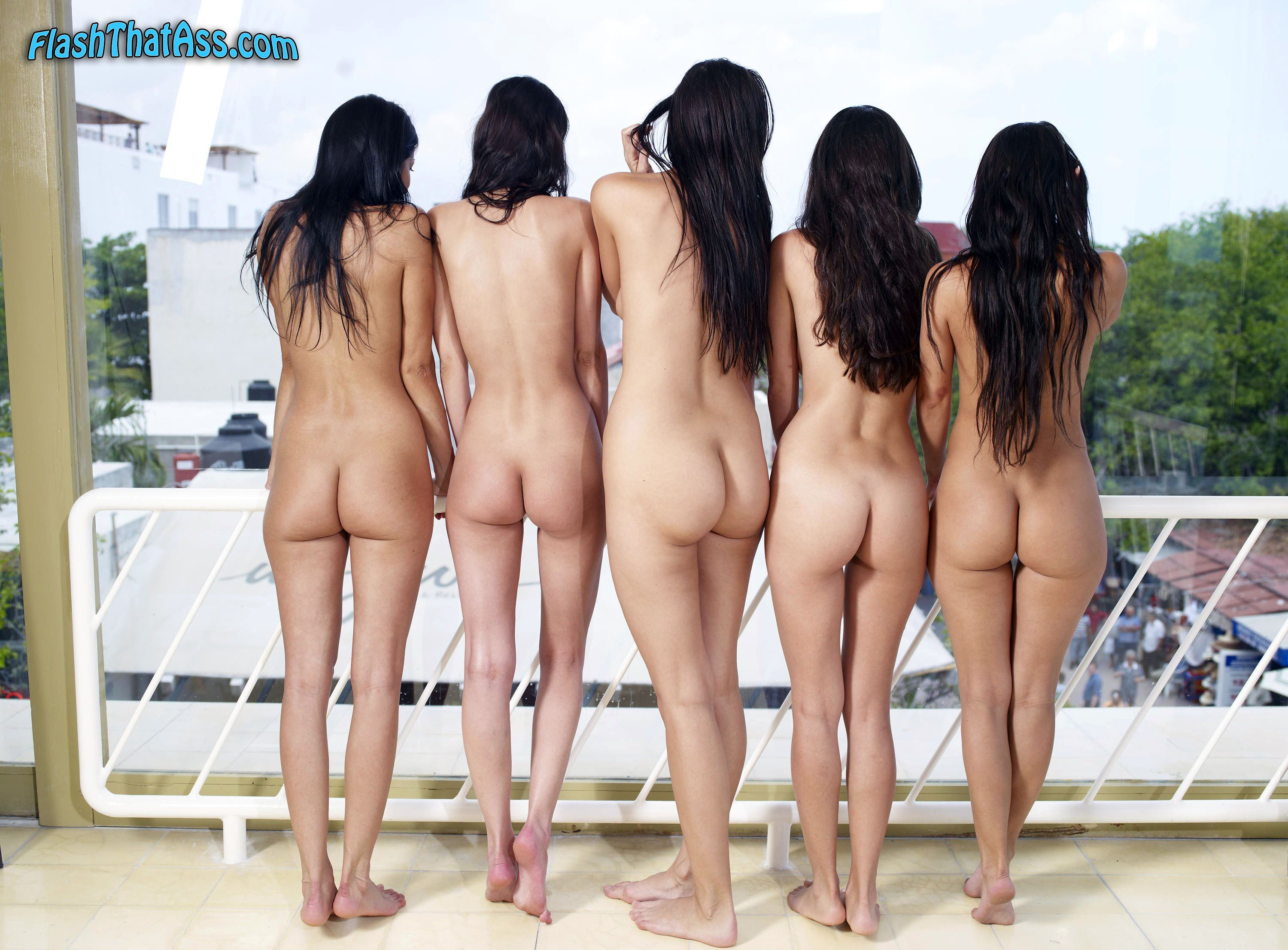 Group nude butt pics