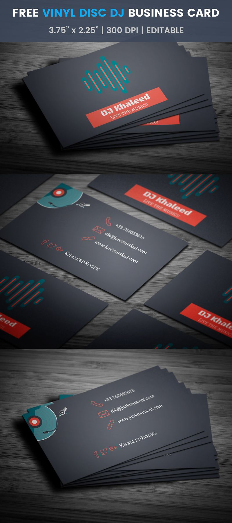 Free free djing business card dj business cards card templates free djing business card template reheart Image collections