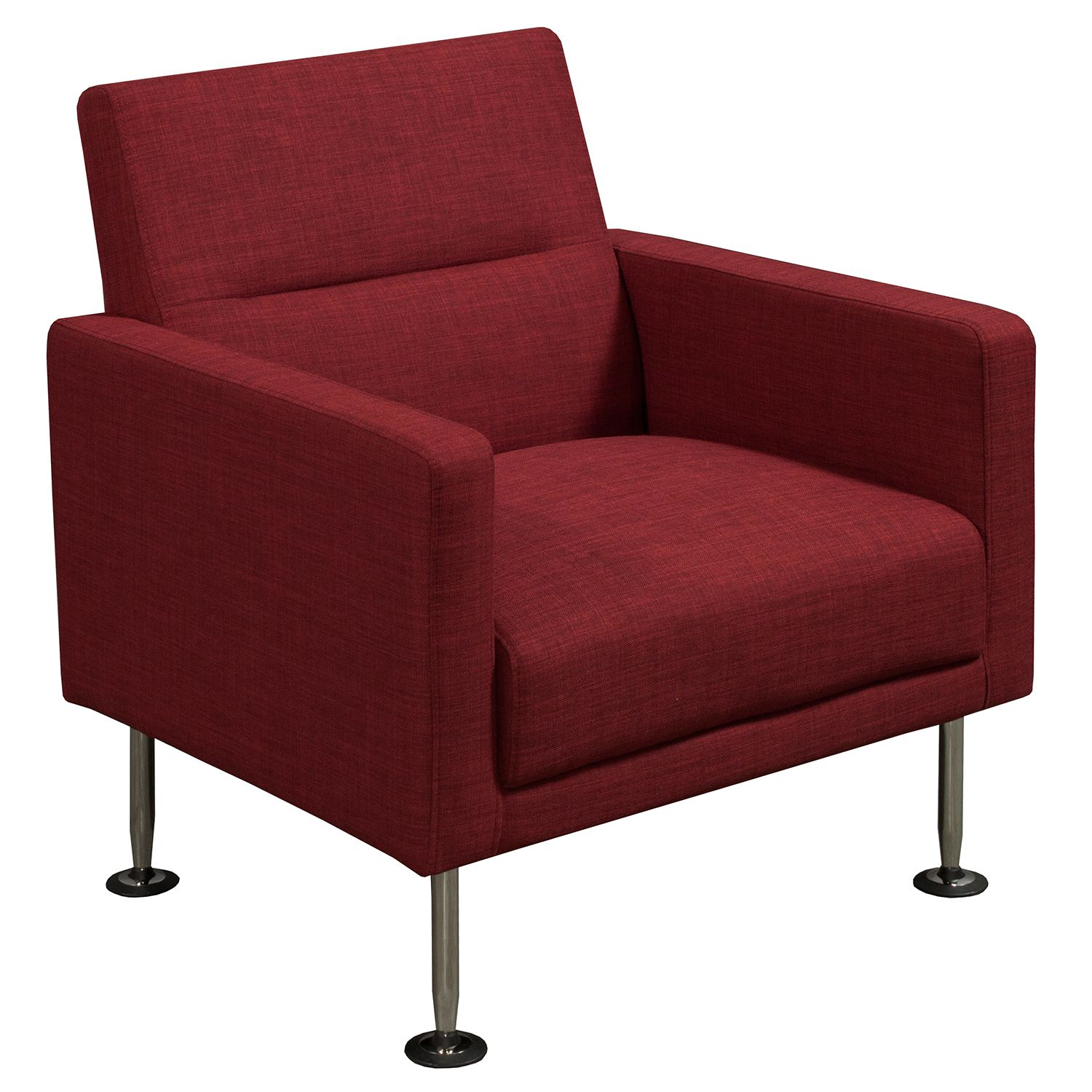 GoSIT New Modern Fabric Reception Chair, Red