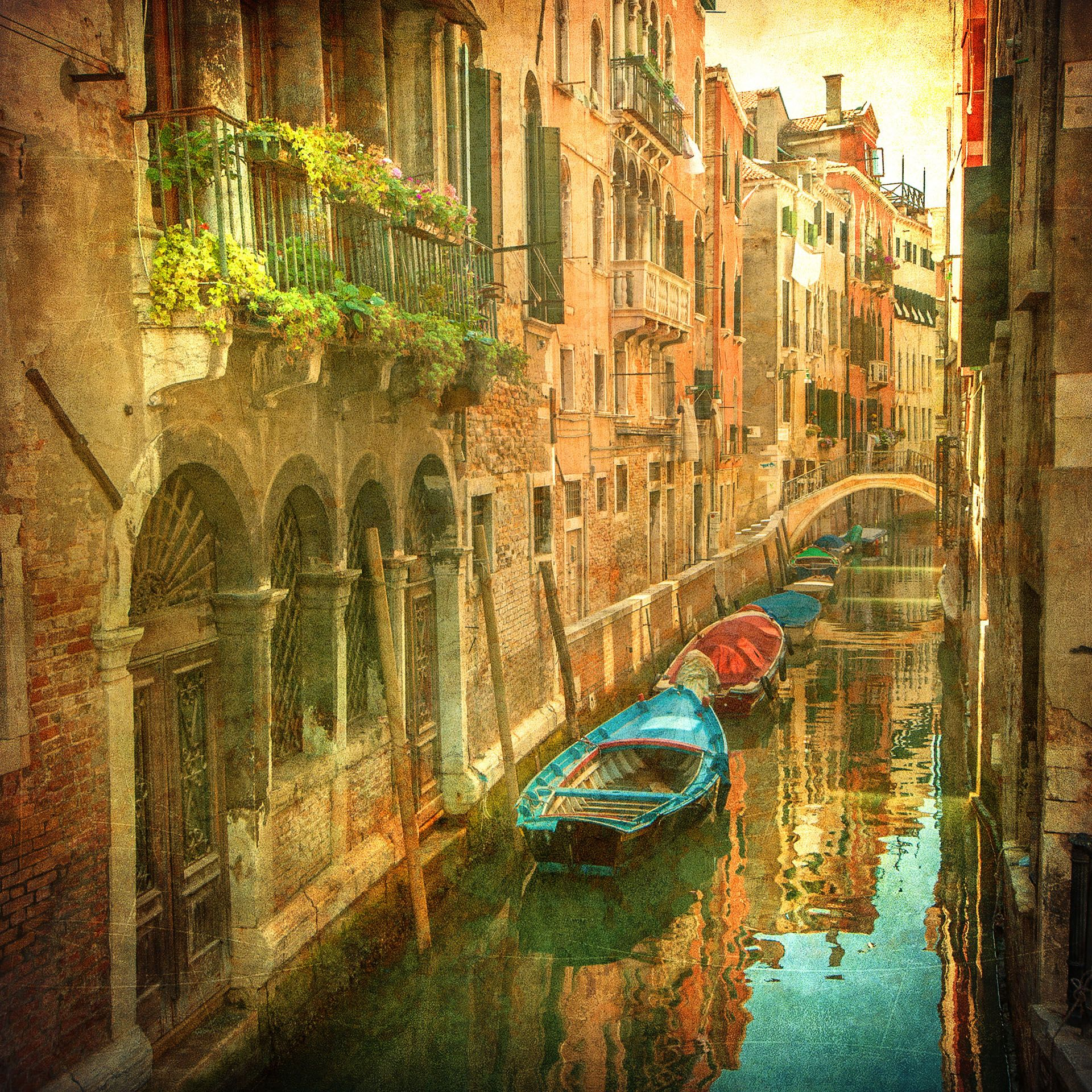 Details about Vintage Venice Canal Italy Photo Wallpaper