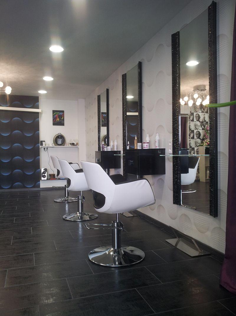 salon de coiffure ambiance moderne Le fil de l'âme Salon