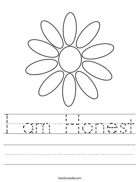 I Am Honest Worksheet Twisty Noodle Girl Scout Daisy Petals