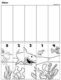 Ocean Scene Number Sequence Puzzle | Jeux éducatifs ...