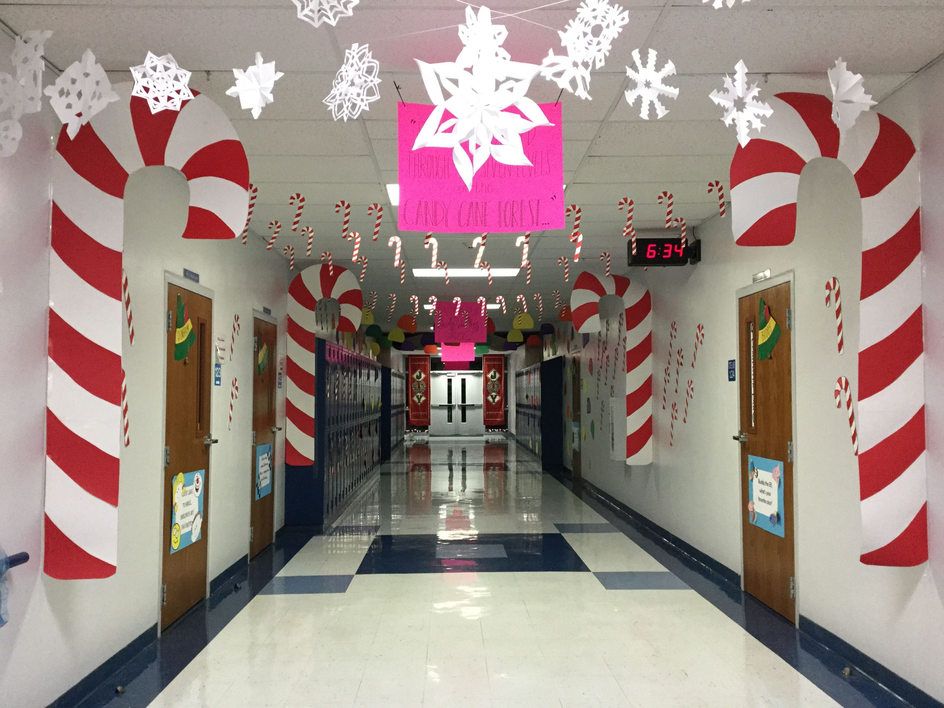 Candy Cane Forest Large Candy Canes Made From Poster Board