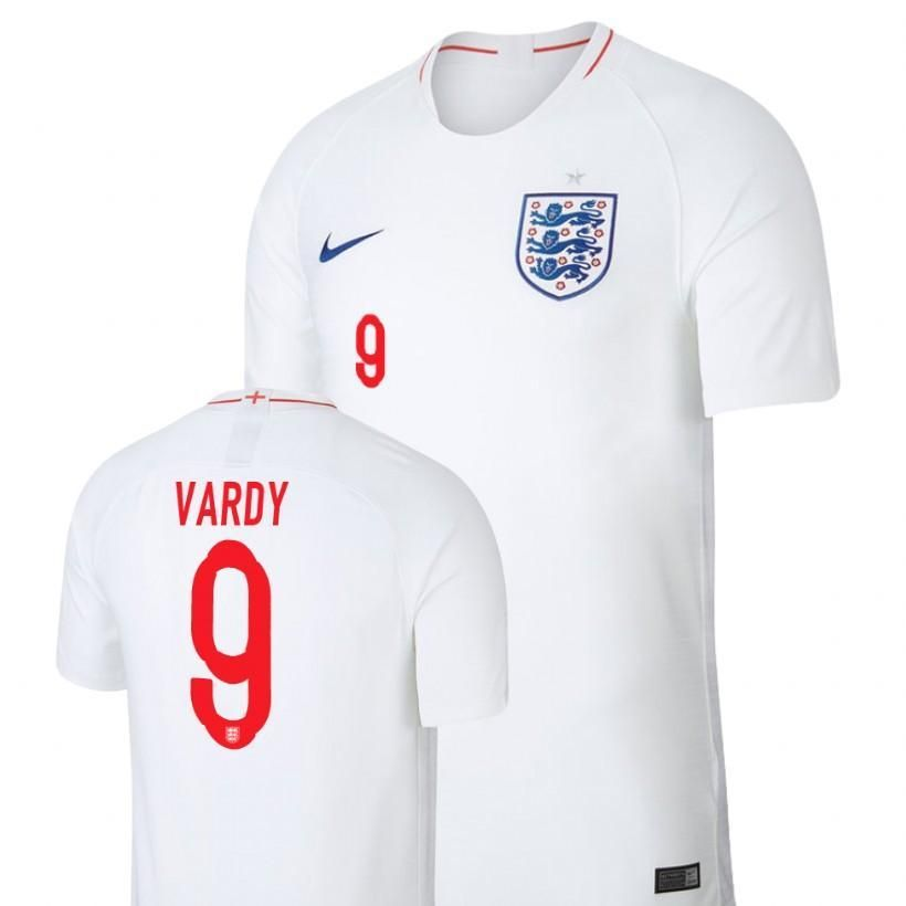 9a2480b4116 Men #9 Vardy Jersey Home England National 2018 FIFA World Cup | 2018 ...