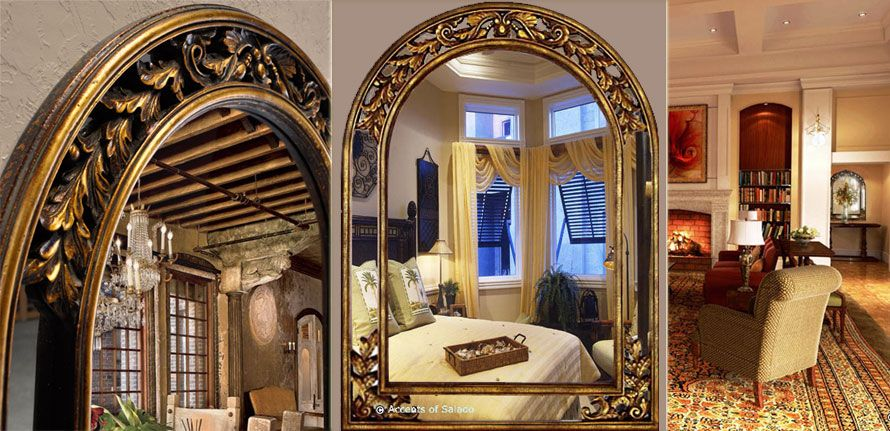 Tuscan Old World Style Mirrors Gold Arch Mirror Tuscan Design Mediterranean Homes Arch Mirror