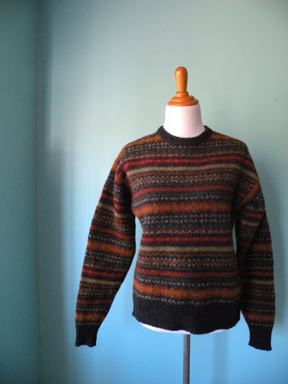 LL Bean - Vintage 1970s Fair Isle Wool Sweater | Sweaters, Jumpers ...