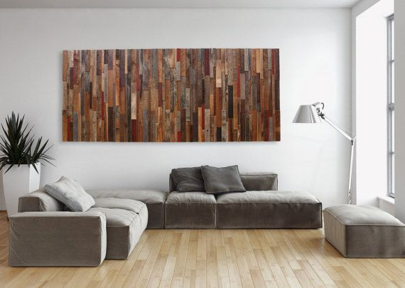Large wood wall art made of old reclaimed by CarpenterCraig