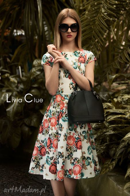 Sukienka April Midi Charlotte Livia Clue Fashion Floral Skirt Dresses